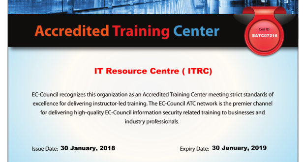 ITRC Becomes Accredited Training Partner of EC Council in Pakistan