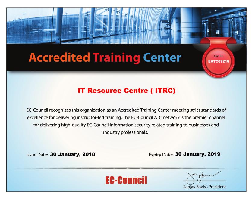 EC Council Authorized Training Partner
